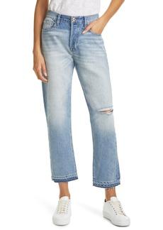 Women's Nsf Clothing Nori Released Hem Baggy Straight Leg Jeans