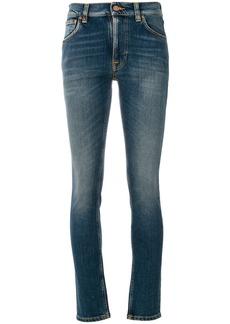 Nudie Jeans Co Lean Dean cropped skinny jeans - Blue