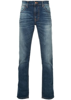 Nudie Jeans Co stonewashed slim jeans - Blue