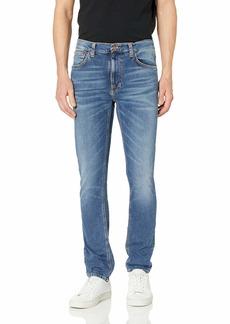 Nudie Jeans Men's Lean Dean Mid Blue Orange 28/32