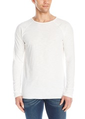 Nudie Jeans Men's Otto Raw Hem Slub T-Shirt ECRU