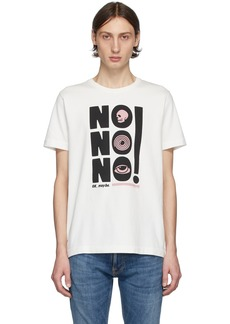 Nudie Jeans Off-White 'No No No' Roy T-Shirt