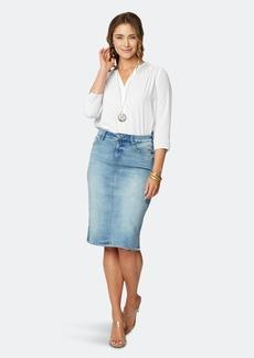NYDJ 5 Pocket Knee-Length Skirt - Biscayne - 20 - Also in: 26, 24, 28, 22
