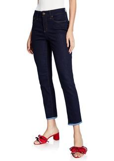 NYDJ Alina Contrast-Hem Denim Jeans