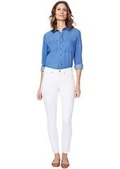 NYDJ Alina Skinny Ankle Jeans in Optic White