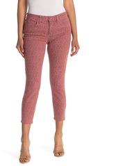 NYDJ Ami Leopard Print Ankle Crop Skinny Jeans