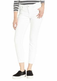 NYDJ Ami Skinny Ankle w/ Cuff in Optic White