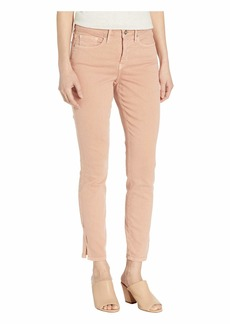 NYDJ Ami Skinny Ankle with Side Slit in Coral Haze