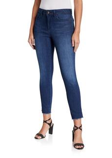 NYDJ Ami Slit Frayed Ankle Skinny Jeans