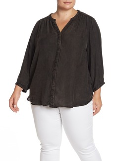 NYDJ Beaded Garment Dye Blouse (Plus Size)