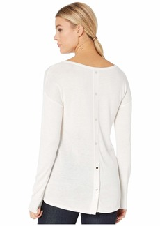 NYDJ Button Back Boat Neck Sweater