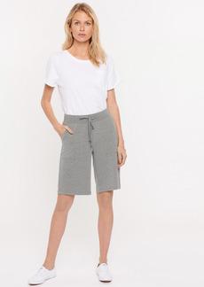 NYDJ Drawstring Bermuda Shorts - Light Heather Grey - L - Also in: XL, XS, M