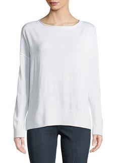 NYDJ Drop-Shoulder Pullover Sweater