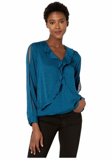 NYDJ Flounce Crossover Blouse