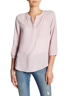 NYDJ Henley 3/4 Length Sleeve Blouse