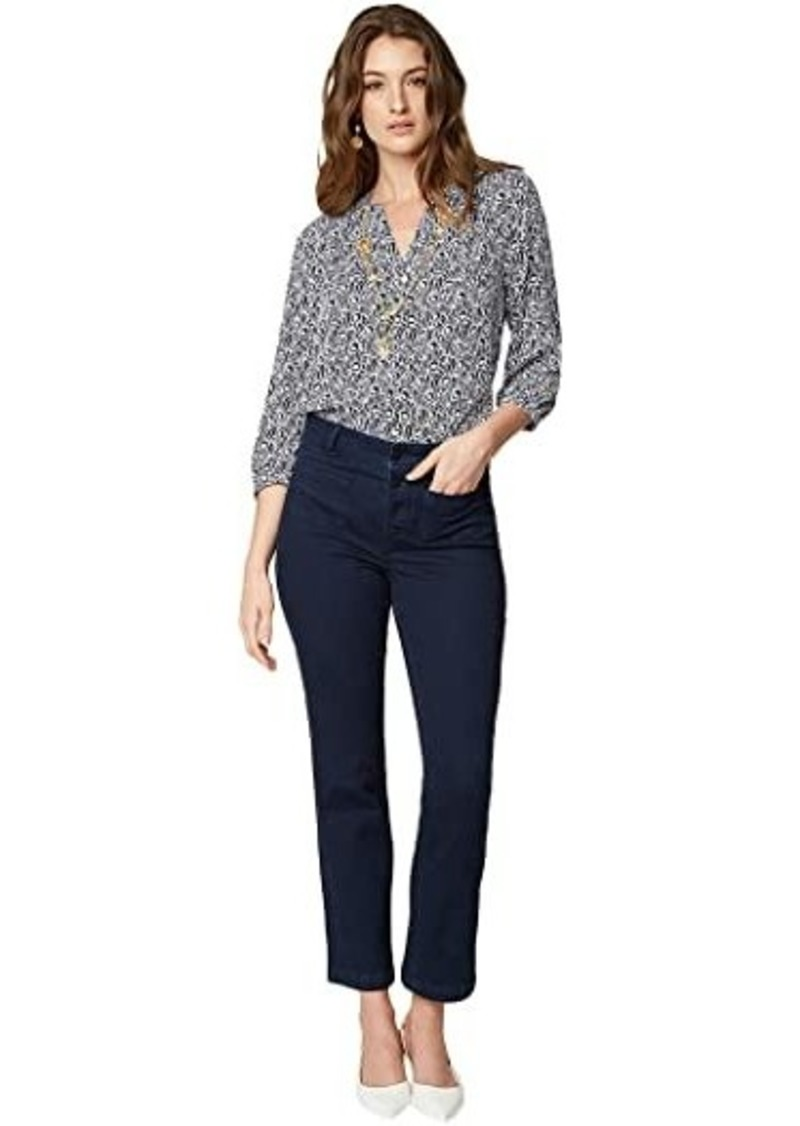 NYDJ High Rise Marilyn Straight Ankle Jeans in Rinse