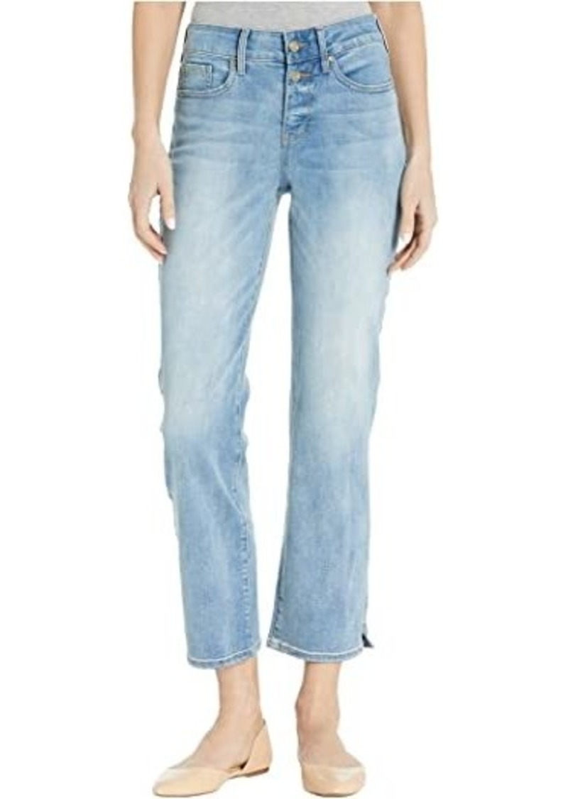 NYDJ Marilyn Straight Ankle Jeans with Side Slits in Biscayne