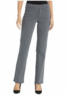 NYDJ Marilyn Straight Double Snap Waistband Sueded Sateen
