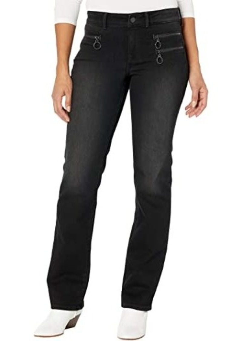 NYDJ Marilyn Straight Jeans with Hip Zippers in Glory