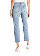 NYDJ Marilyn Straight-Leg Ankle Jeans with Seastar Embroidery