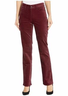 NYDJ Marilyn Straight Velvet Jeans in Grenache