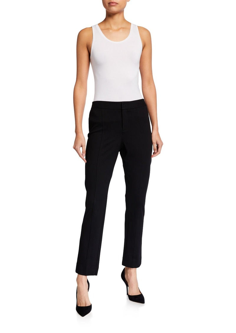NYDJ Mid-Rise Ponte-Knit Ankle Trouser Pants
