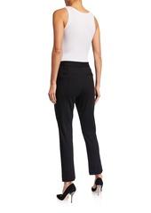 NYDJ Mid-Rise Ponte-Knit Ankle Trouser Pants