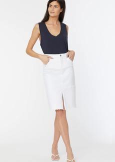 NYDJ Midi Skirt - Optic White - 2 - Also in: 4, 10, 12, 6, 8