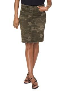 NYDJ 5-Pocket Jean Skirt in Camo