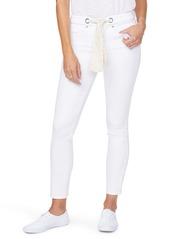 NYDJ Alina High Waist Scarf Tie Legging Ankle Skinny Jeans