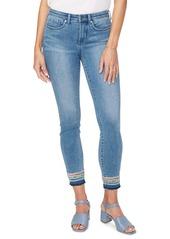 NYDJ Ami Embroidery Release Hem Ankle Skinny Jeans (Brickell)