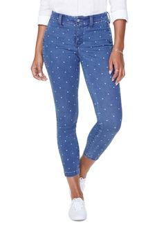 NYDJ Ami High Waist Crop Skinny Jeans (Beachside Polka Dot)