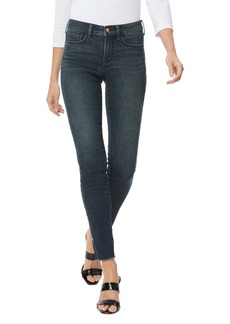 NYDJ Ami High Waist Fray Hem Side Slit Ankle Skinny Jeans (Prosperity)