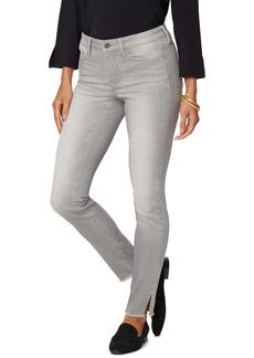 NYDJ Ami High Waist Rivet Side Slit Fray Hem Jeans (Grace)