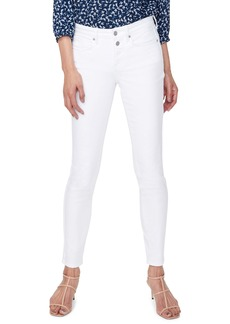 NYDJ Ami Mock Button Fly Skinny Jeans (Optic White)