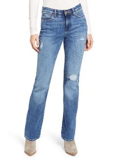 NYDJ Barbara Distressed Bootcut Jeans (Fortune)