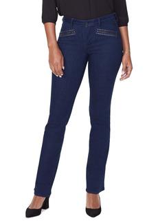 NYDJ Barbara High Waist Hip Zip Bootcut Jeans (Corinne)