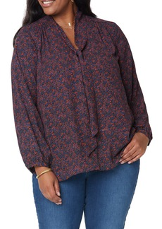 NYDJ Bow Button-Up Blouse (Plus Size)