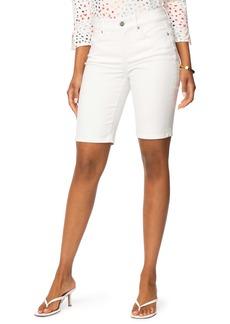 NYDJ Briella Cool Embrace® Denim Bermuda Shorts (Optic White) (Petite)