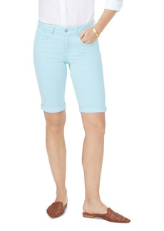 NYDJ Briella Cuffed Denim Bermuda Shorts in Blue Glow