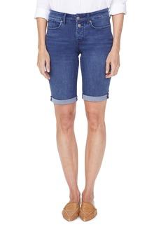 NYDJ Briella High Waist Two-Button Roll Cuff Denim Shorts (Regular & Petite)