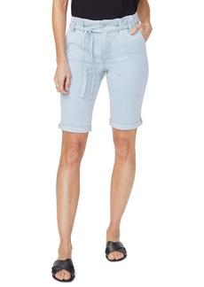 NYDJ Briella Paperbag Waist Cuff Denim Bermuda Shorts