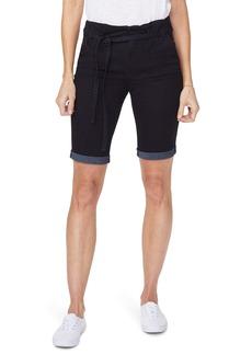NYDJ Briella Paperbag Waist Denim Bermuda Shorts