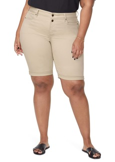 NYDJ Briella Roll Cuff Bermuda Shorts (Plus Size)