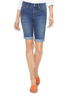 NYDJ Briella Roll-Cuff Denim Shorts in Junipero