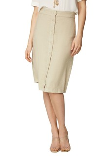 NYDJ Button Front Skirt
