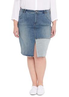 NYDJ Center Slit Midi Skirt (Plus Size)