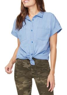 NYDJ Chambray Button-Up Camp Shirt