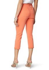 NYDJ Chloe Slim Fit Capri Jeans (Coral Flame)