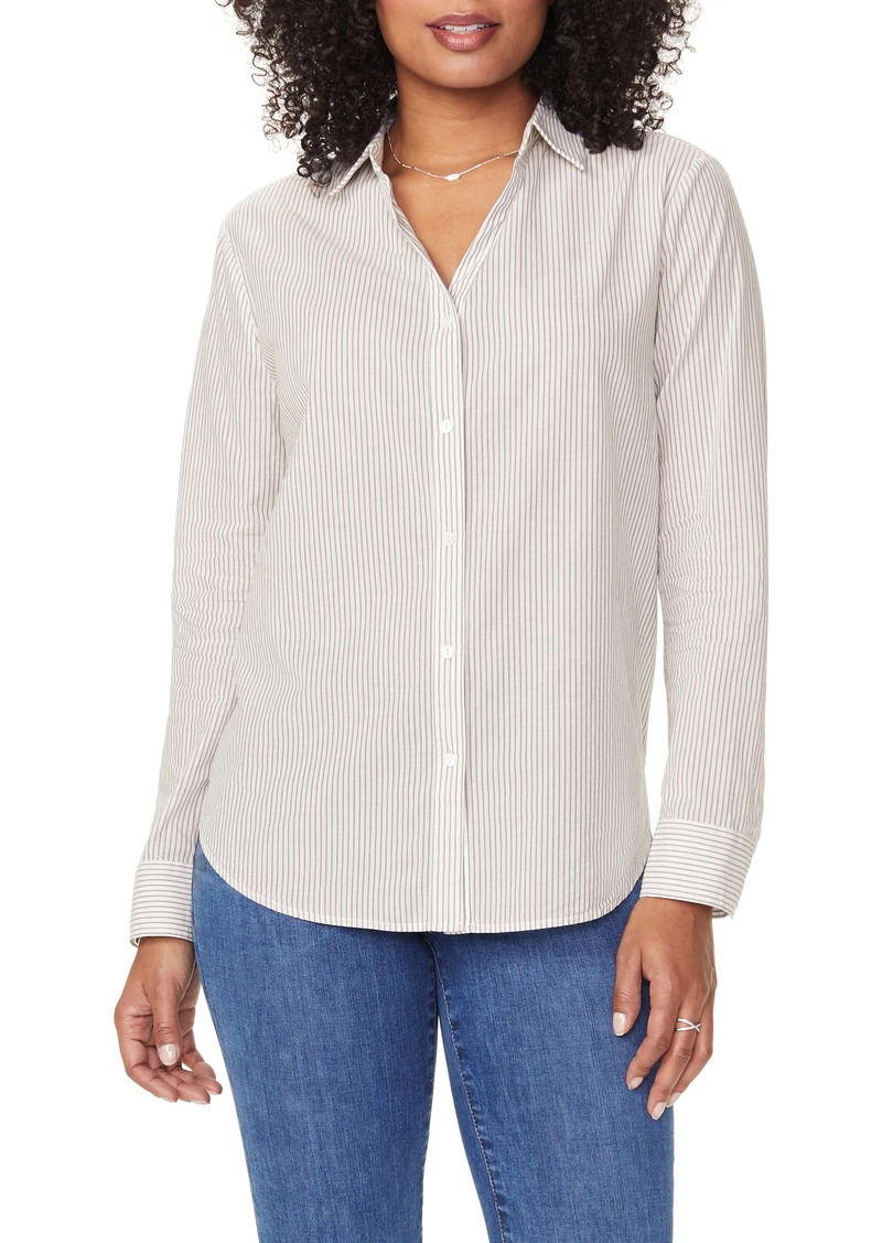 NYDJ Classic Button-Up Stripe Shirt